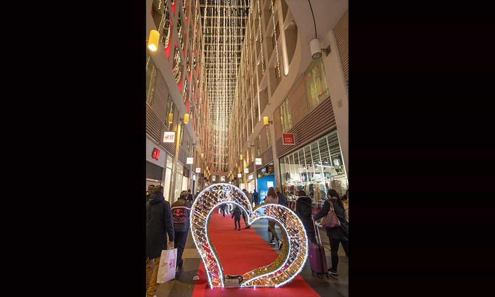 Galereie structure 3D décorations lumineuses coeur