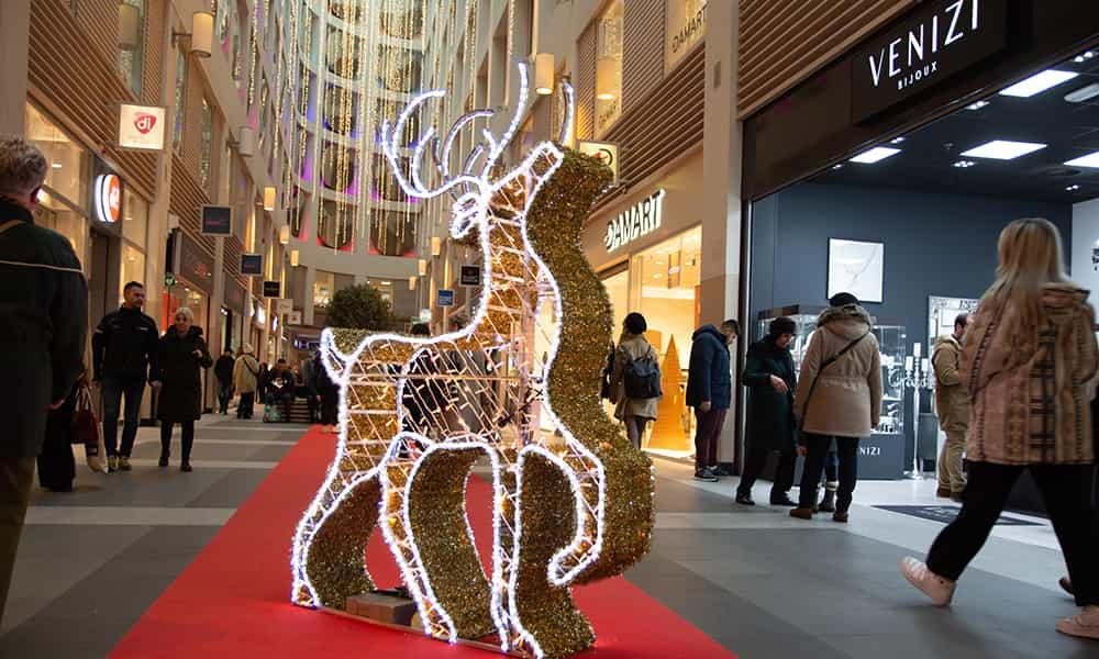 Illuminations de noel galerie Anspach rennes lumineux