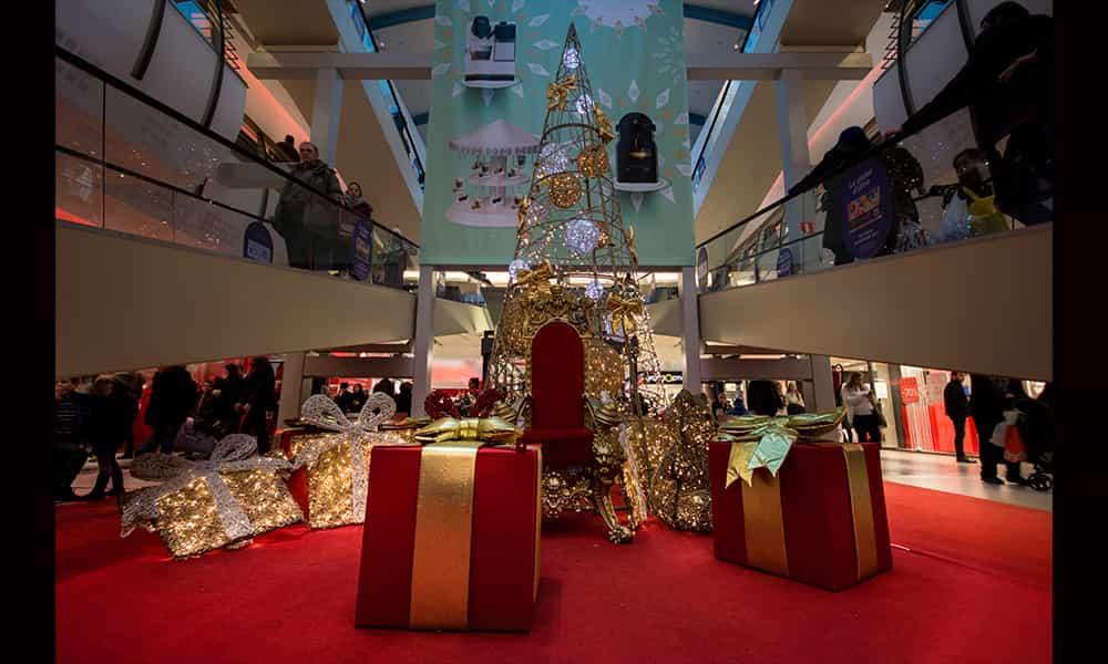 Structure 3D Atrium illuminations centres commerciaux