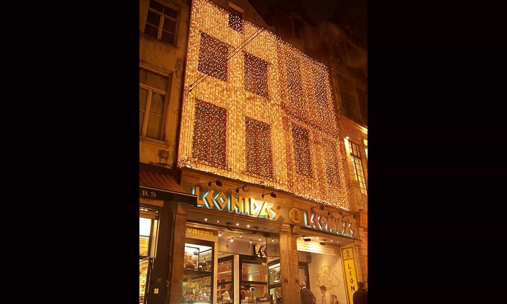 Entreprise illumination facade Leonidas