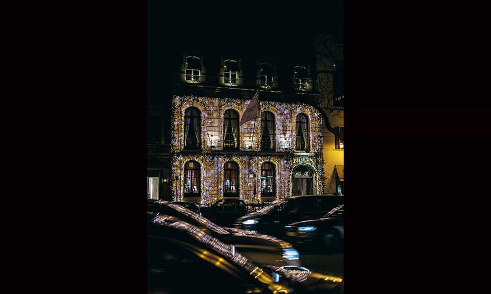 Entreprise illuminations de noel facade Degand Bruxelles