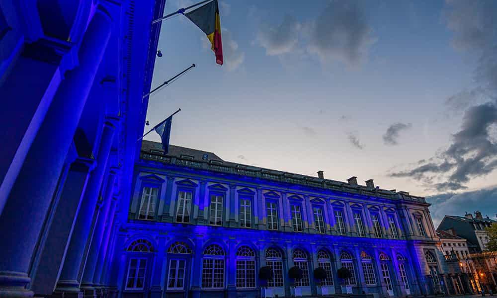 Illumination batiment palais dEgmont événement