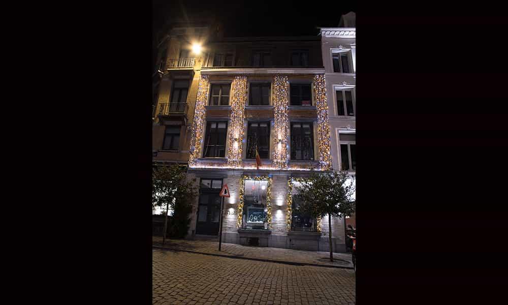Illuminations de facade pour noel Leysen Bruxelles