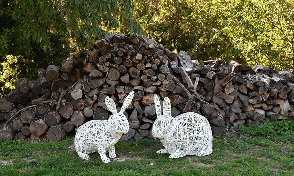 Décoration 3D animaux lapins
