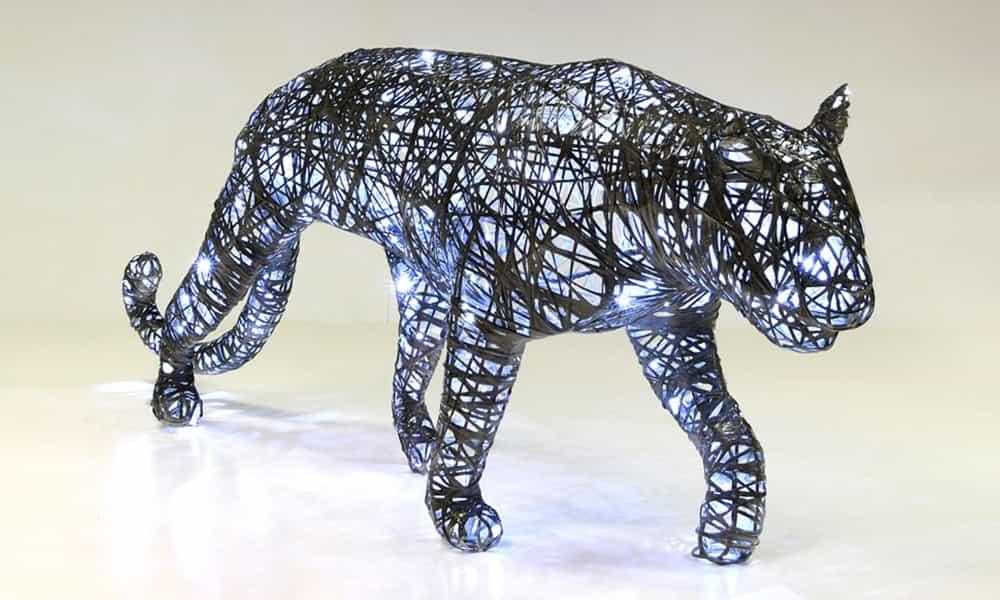 Décoration 3D animaux panthère