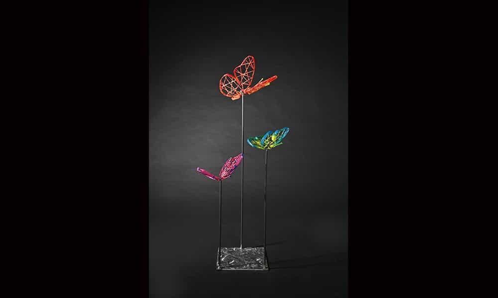 Décoration 3D extérieur fibre minérale papillons