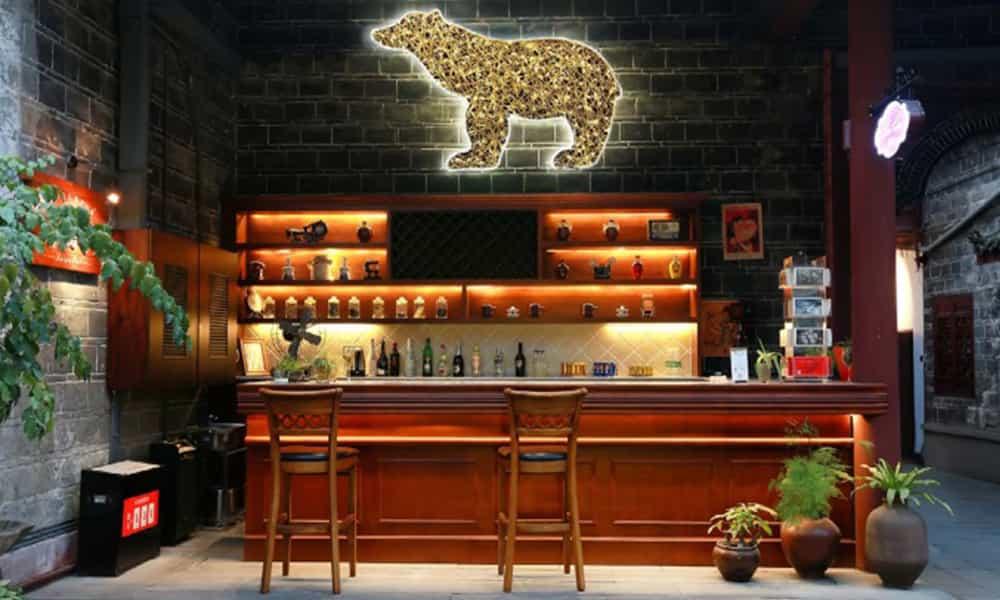 Décoration lumineuse bar restaurant
