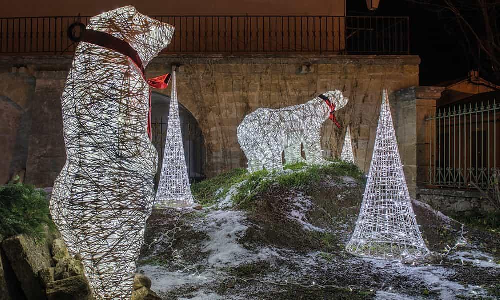 Décoration de Noël lumineuse ours