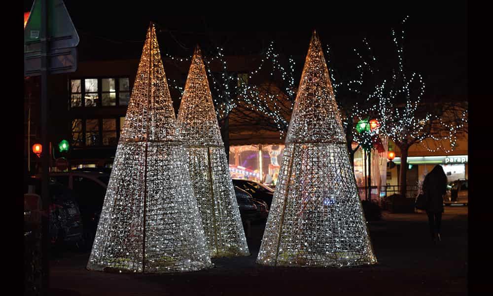 Décoration lumineuse Noël villes communes