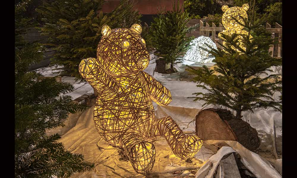 Décoration lumineuse ours Noël