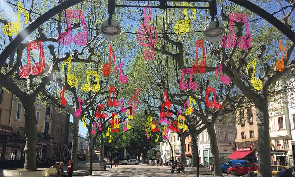 Décoration festival musique rues et communes