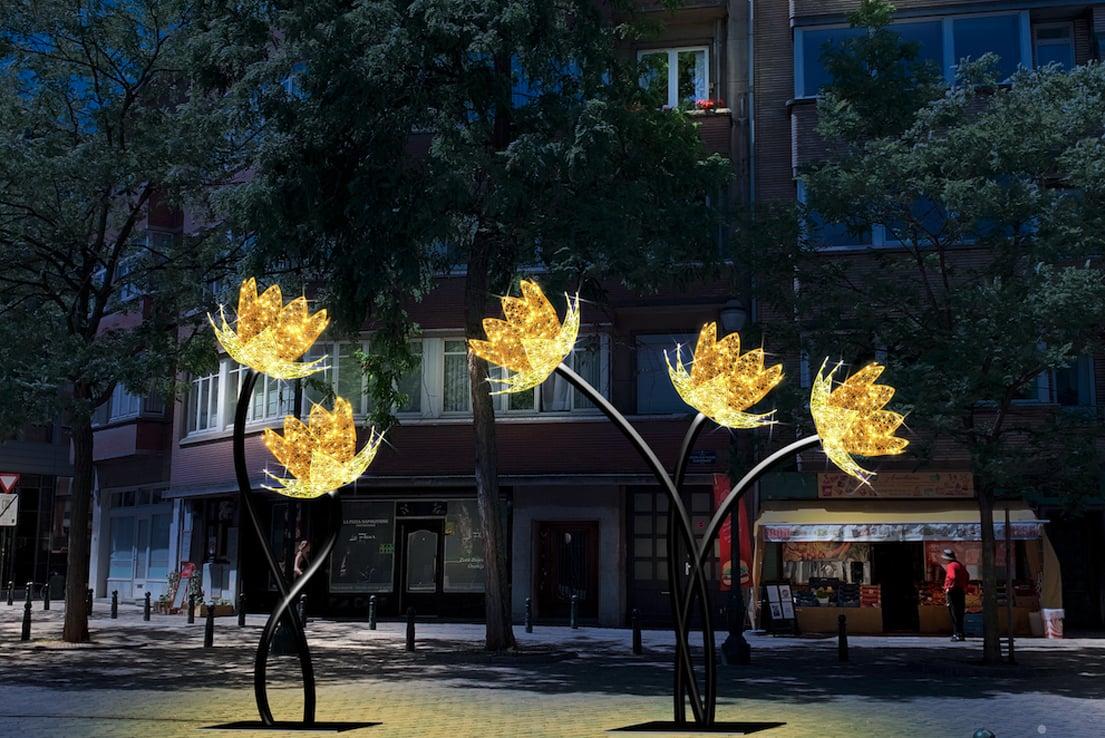 Réel fleur 3D illumination